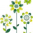 Stock Vector: Eco flowers - 1