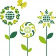 Vector de stock : Eco flowers - 3