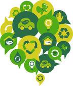 Ecological ideas — Stock Vector