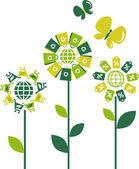 Eco flowers - 2 — Stock Vector