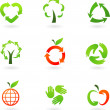 Recycling icons - Stok Vektör