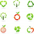 Recycling icons — Stok Vektör