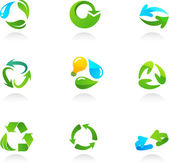Glossy recycling icons — Stock Vector