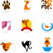 Vettoriale Stock : Pet icons and logos
