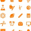 Huge education icon set — Stock Vector