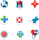 Medicine and health-care icons — Vetor de Stock