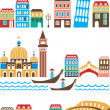 Italian landmarks - Stock Vector