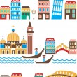 Royalty-Free Stock Vector Image: Italian landmarks