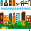 New York skyline - Stock Vector