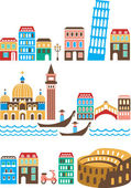 Italian landmarks — Stock Vector