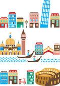 Monuments italiens — Vecteur