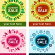 Seasonal sales posters — Stock Vector