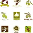 Olive icons and logos — Stockvectorbeeld
