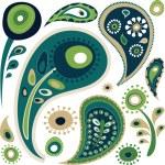 Retro paisley pattern — Stock Vector