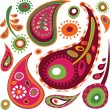 Exotic paisley pattern - Stock Vector