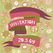 Retro invitation card - Stock Vector