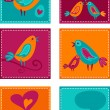 Cute birds - Stock Vector