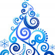 Royalty-Free Stock Vektorov obrzek: Blue Christmas tree