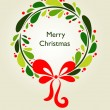 Christmas wreath card - 1 - Stock Vector