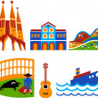 Barcelona - 2 - Stock Vector