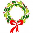 Christmas wreath — Stock Vector #3819831