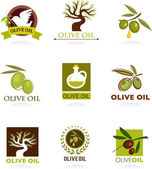 Olive icons and logos — Vetorial Stock