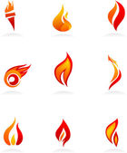 Fire icons - 1 — Stock Vector