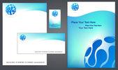 Letterhead template design - 3 — Stock Vector