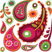 Exotic paisley pattern — Stock Vector