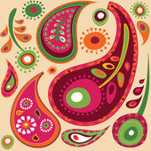 Paisley wallpaper pattern — Stock Vector