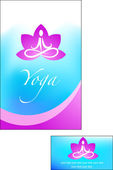 Yoga background — Stock Vector