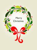 Kranz weihnachtskarte - 1 — Stockvektor