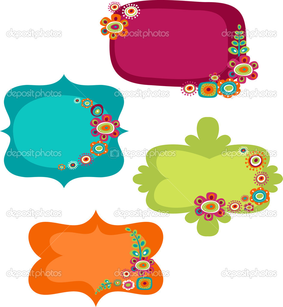 cute colorful frames vector by marish