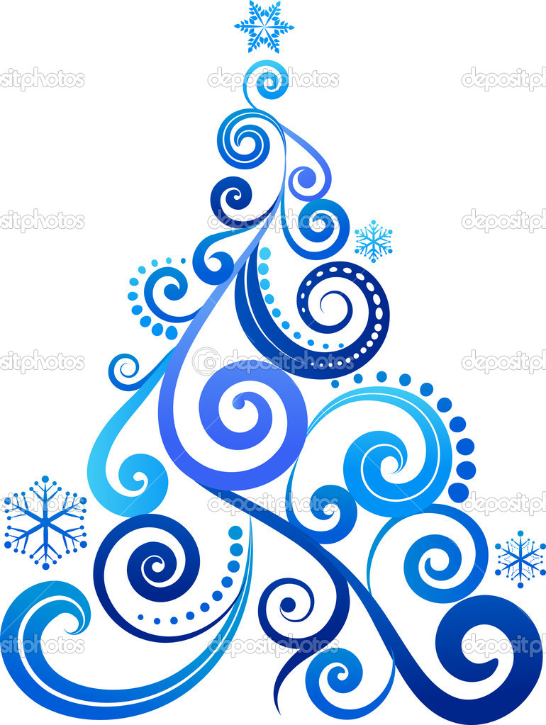Blue Christmas tree ornament — Stock Vector #3819789