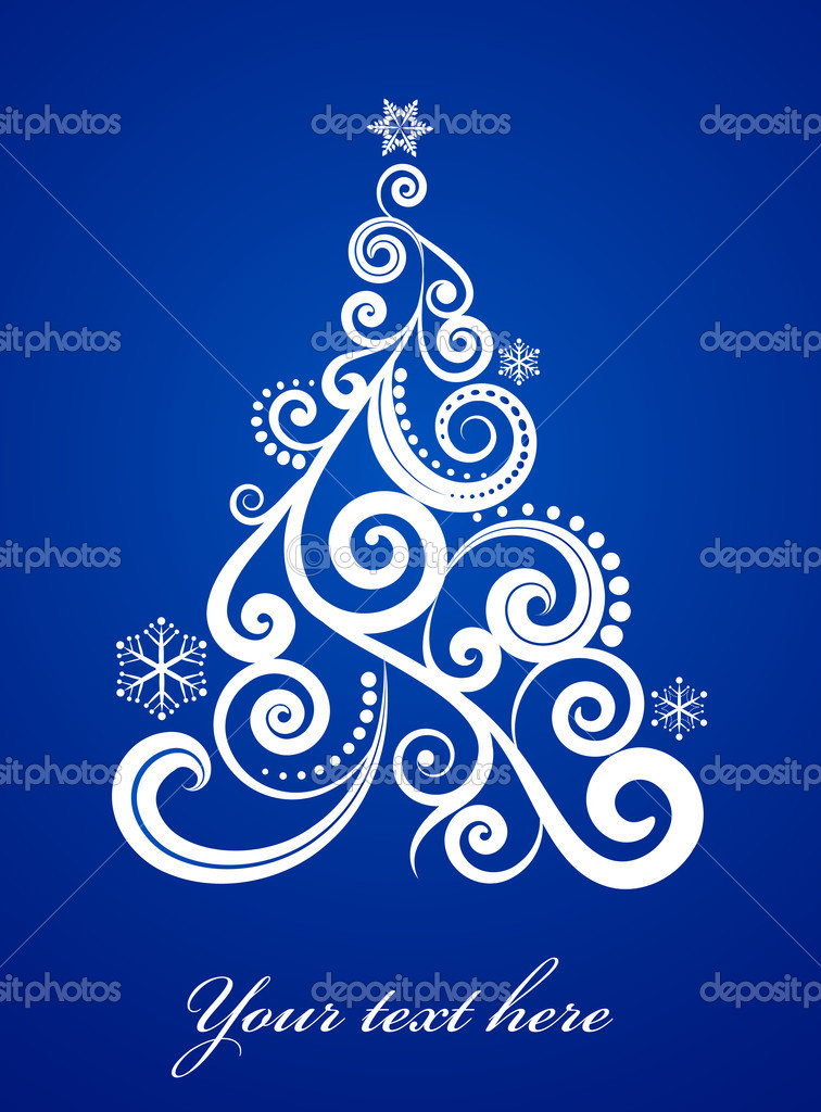 Elegant blue Xmas background — Stock Vector #3819790
