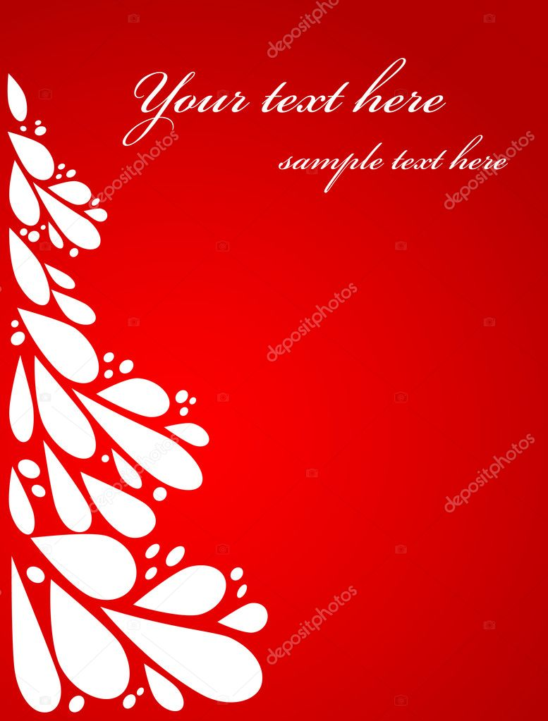 Red Christmas card template — Stock Vector #3819808