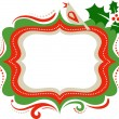 Christmas frame - 3 — Stock Vector