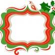 Christmas frame - 3 — Stock Vector