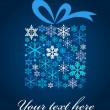Royalty-Free Stock Vector Image: Snowflake gift box