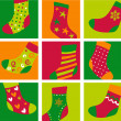 Royalty-Free Stock Vector Image: Cute Christmas stockings