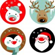 Christmas characters — Vector de stock  #3907405