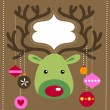 Christmas reindeer card — Stock Vector