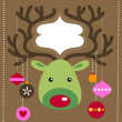 Royalty-Free Stock Vector Image: Christmas reindeer card