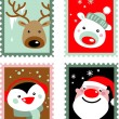 Christmas stamps — Vector de stock #3907439
