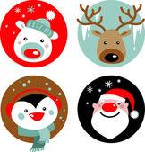 Personajes de navidad — Vector de stock