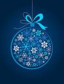 Blue Christmas ball — Stock Vector