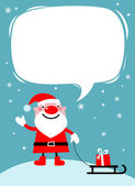 Santa with a sledge — Stock Vector