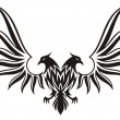 Double headed eagle 2 — Stock Vector