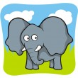 Stock Vector: Elephant cartoon
