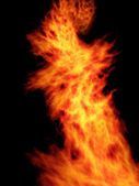 Flame movement — Stock Photo